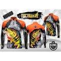 Camiseta De Pesca Sublimada King Brasil Manga Longa - Tucunaré Kff600 Masculina