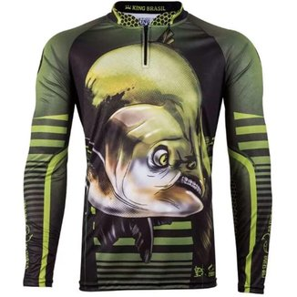 Camiseta de Pesca Sublimada King Brasil Tamba Masculino