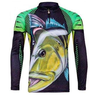 Camiseta de Pesca Sublimada King BrasilTucunaré Masculino
