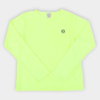 Camiseta de Praia Infantil Boca Grande UV50+ Manga Longa Feminina
