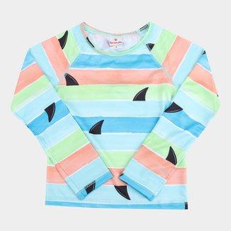 Camiseta de Praia Infantil Brandili Com Proteção UV 50+Manga Longa Masculina