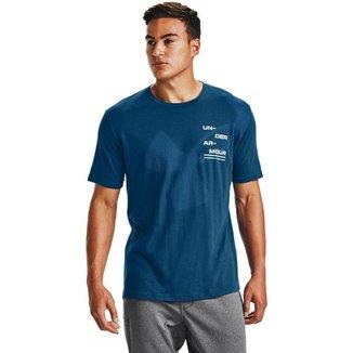 Camiseta de Treino Under Armour Big Logo Breakdown SS Masculina