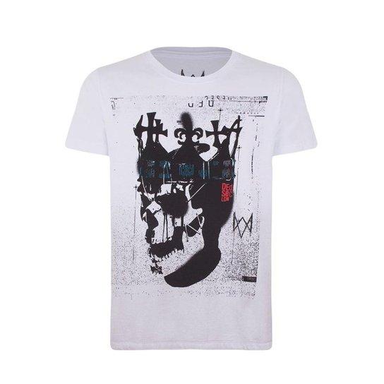 Camiseta Ded coronet gradient Watch dogs Ubisoft Masculina - Branco