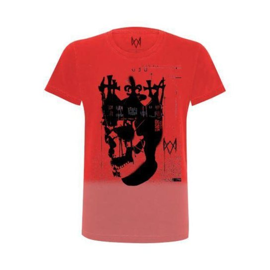 Camiseta Ded coronet gradient Watch dogs Ubisoft Masculina - Vermelho