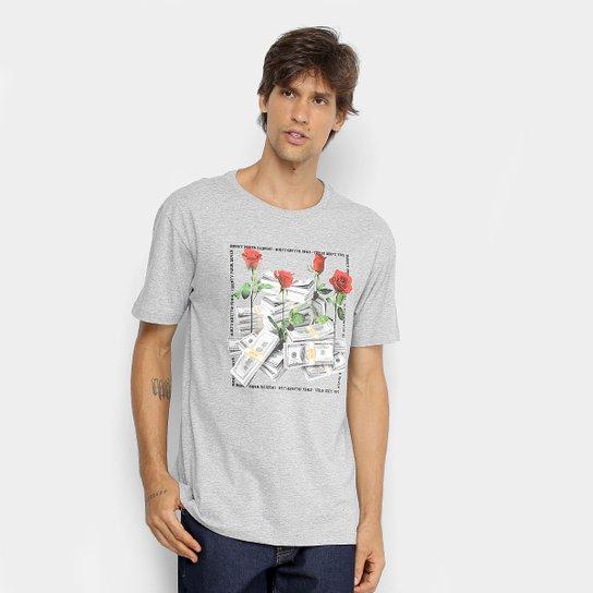 Camiseta DGK Stacks Masculina - Cinza