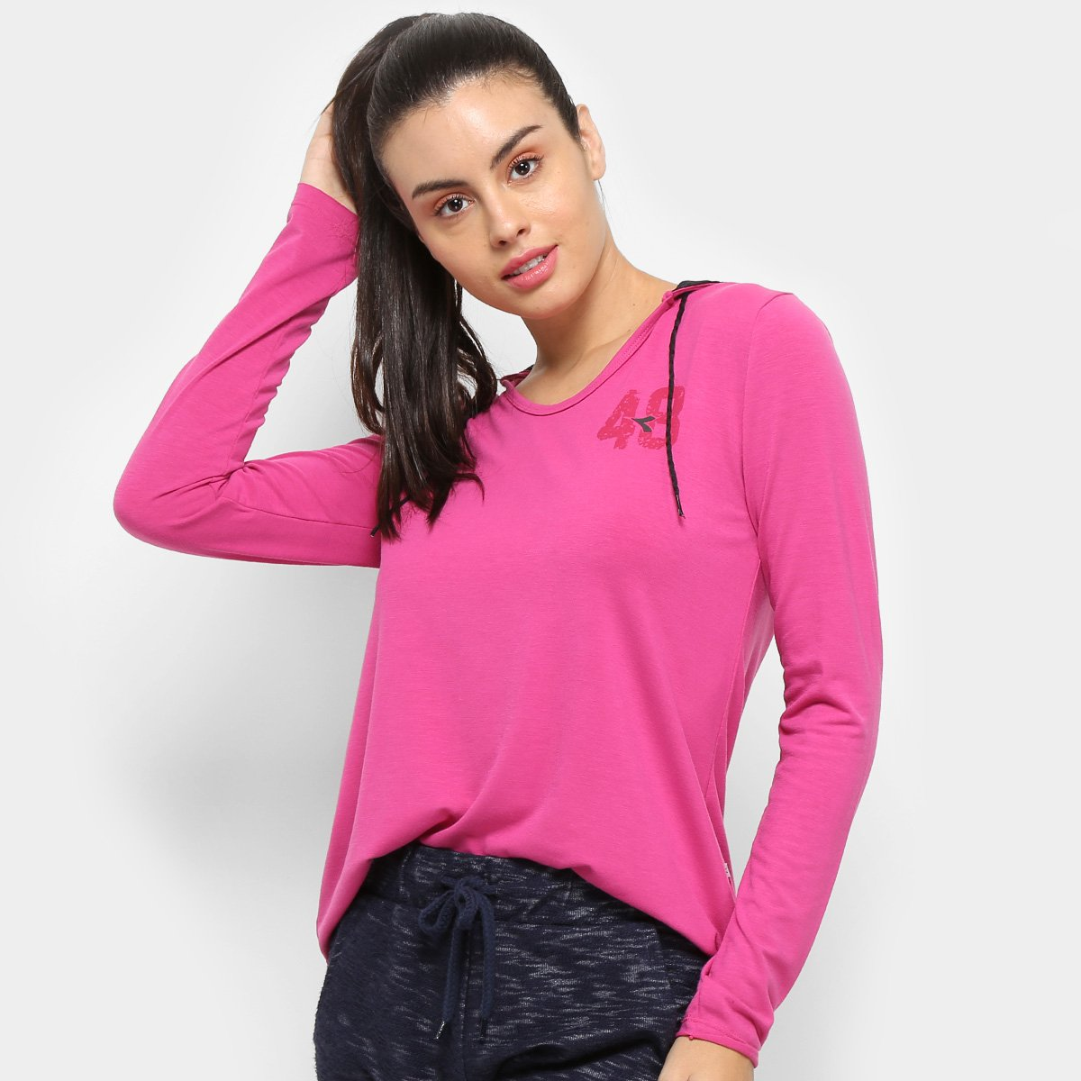 L Diadora Pink Flow Flow 261172 Camiseta Camiseta Diadora M x0cw1wOPqB
