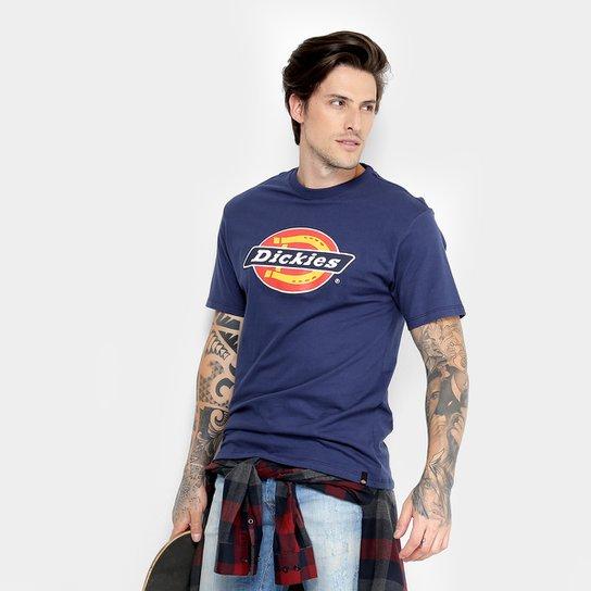 Camiseta Dickies Básica Logo Tradition Masculina - Azul