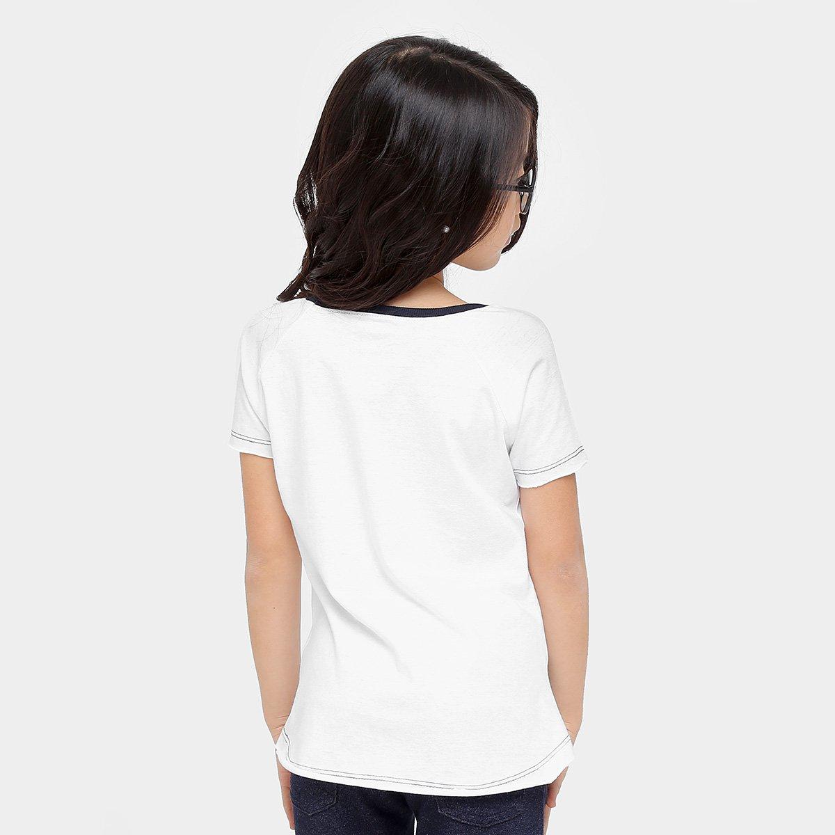 Bela Camiseta Botons Camiseta Disney Botons Infantil Bela Branco Camiseta Infantil Branco Disney w44q1Ff