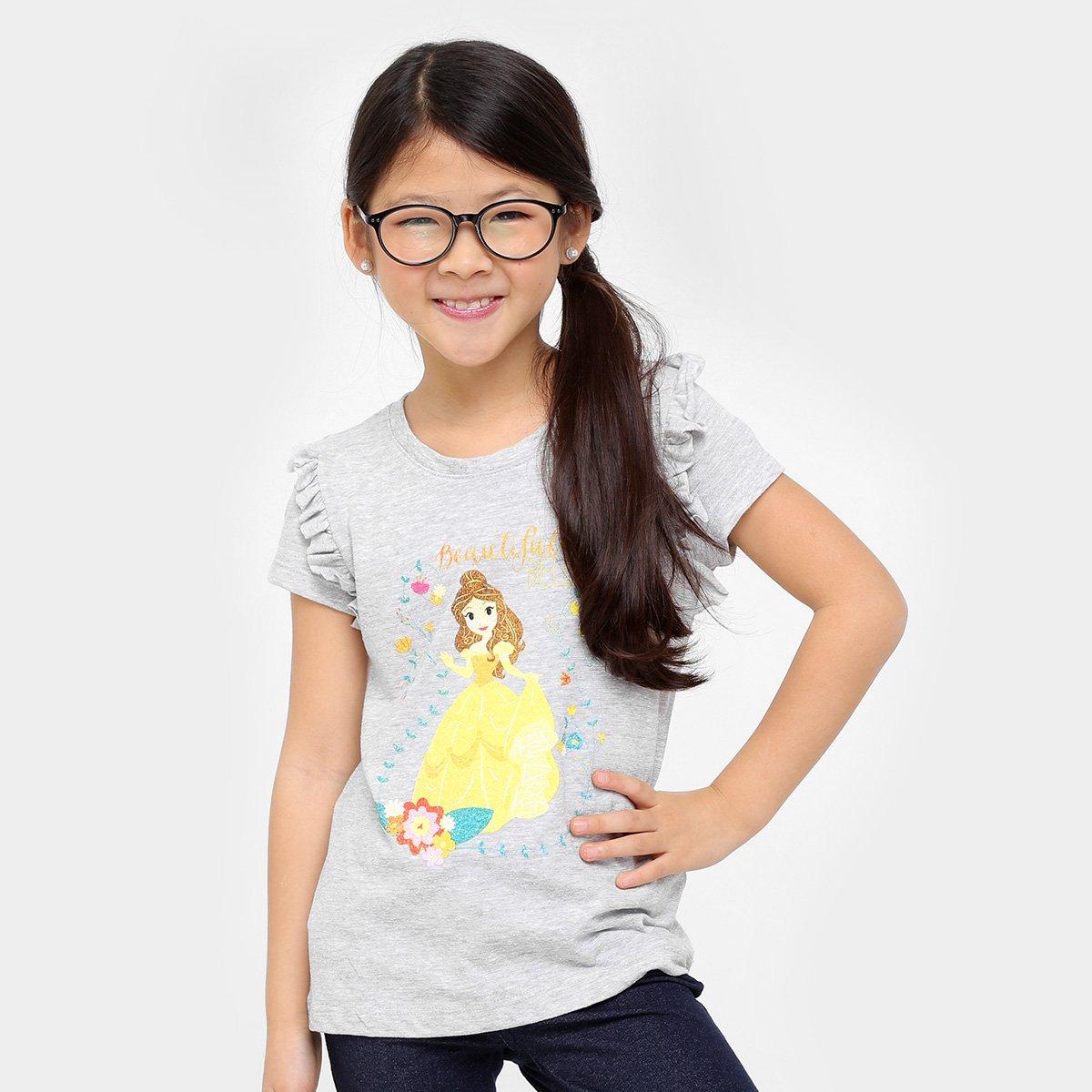 Camiseta Bela Camiseta Mescla Infantil Disney Disney 8YFxOq