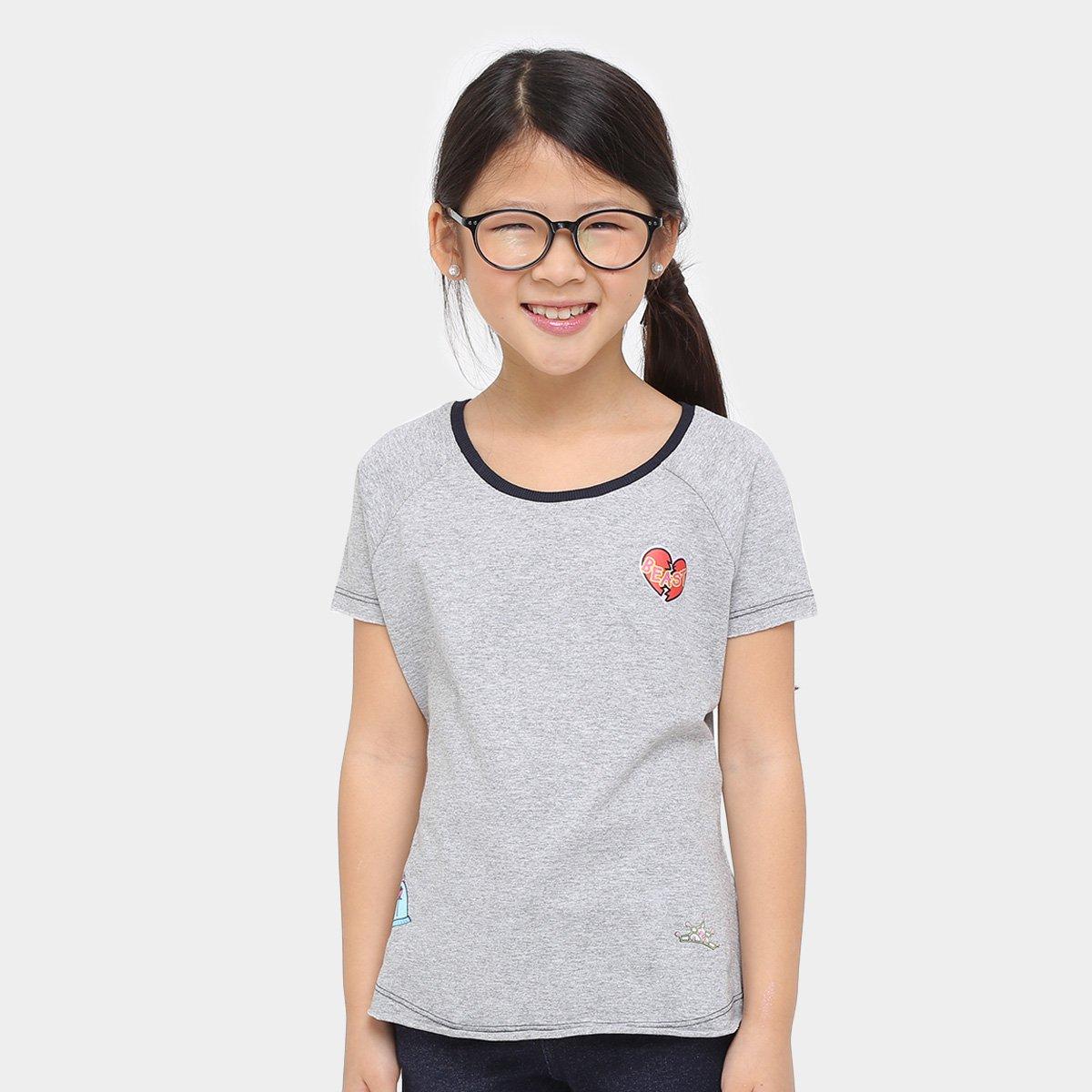 Disney Camiseta Patches Camiseta Disney Infantil Bela Mescla 6vE4Pw