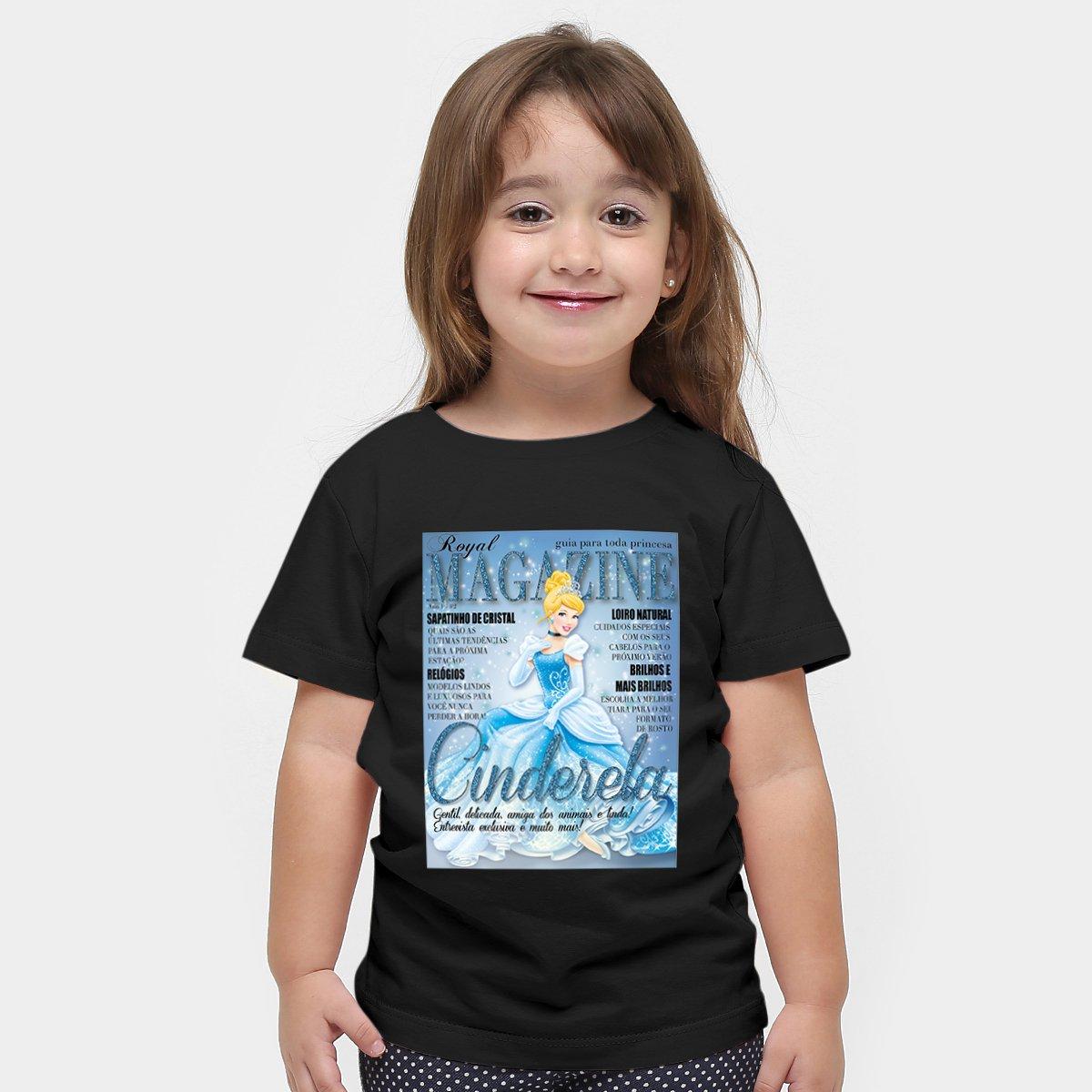 Magazine Cinderela Infantil Camiseta Magazine Disney Cinderela Camiseta Camiseta Disney Preto Infantil Preto EXwzwcx1fq