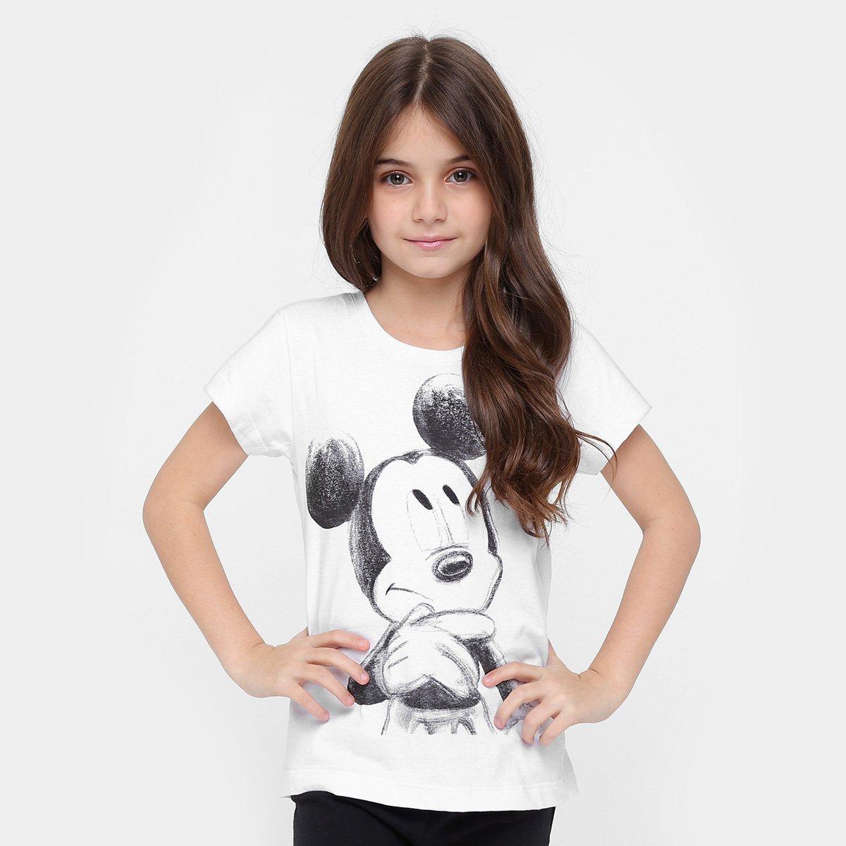 Mickey Branco Disney Camiseta Disney Mouse Camiseta Infantil nFwqCntf8x