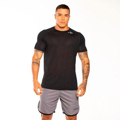 Camiseta Dry Fit Preto Wolf Alpha CO