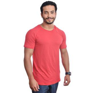 Camiseta Dry Fit Raglan Básica UV25+ Masculino  - GG - Vermelho