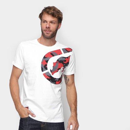 Camiseta Ecko Big Logo Camuflado Masculina