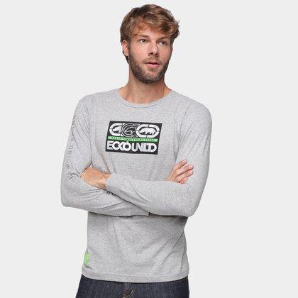 Camiseta Ecko Estampada Manga Longa Masculina
