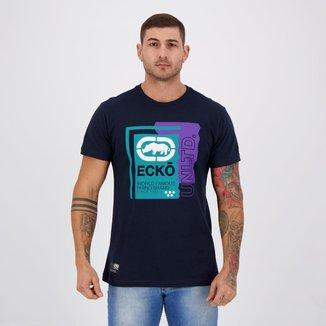 Camiseta Ecko World Famous Marinho
