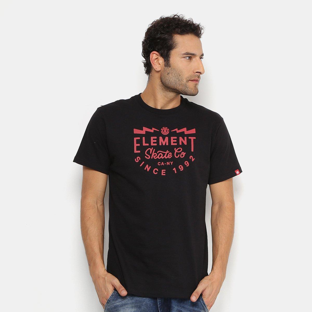 Camiseta Element Skate Co Masculina - Preto - Compre Agora  5a378c61c29