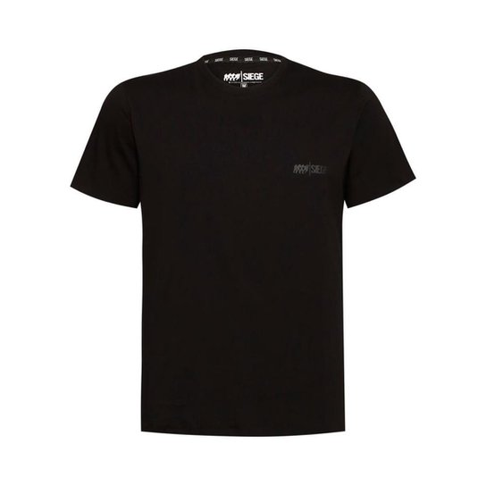 Camiseta Elite Unissex R6 Siege Ubisoft - Preto