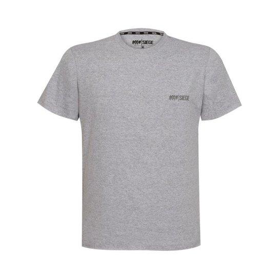 Camiseta Elite Unissex R6 Siege Ubisoft - Cinza