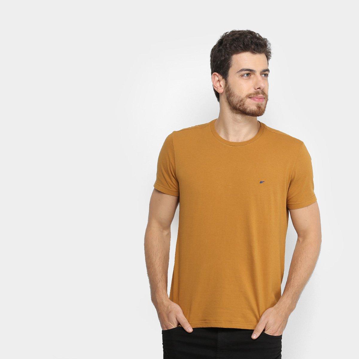2576524160f19 Camiseta Ellus Cotton Fine Asa Classic Masculina - Marrom Claro - Compre  Agora