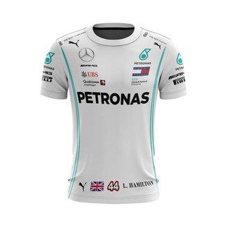 Camiseta Esporte Fórmula 1 Hamilton  Mercedes