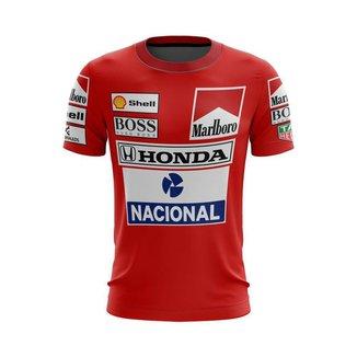 Camiseta Esporte Fórmula 1  Uniforme Ferrari F1  Ayrton Senna Tricampeonato
