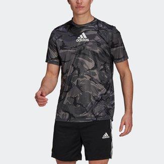 Camiseta Estampa Camuflagem adidas Designed To Move AEROREADY Adidas