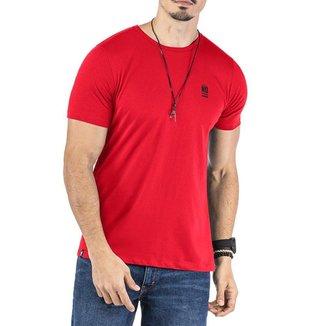 Camiseta Estampa Logo No Stress Vermelha