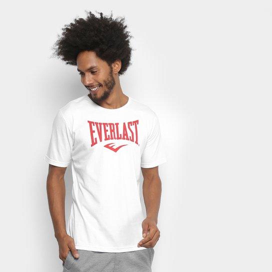 Camiseta Everlast Logomarca Masculina - Branco+Vermelho