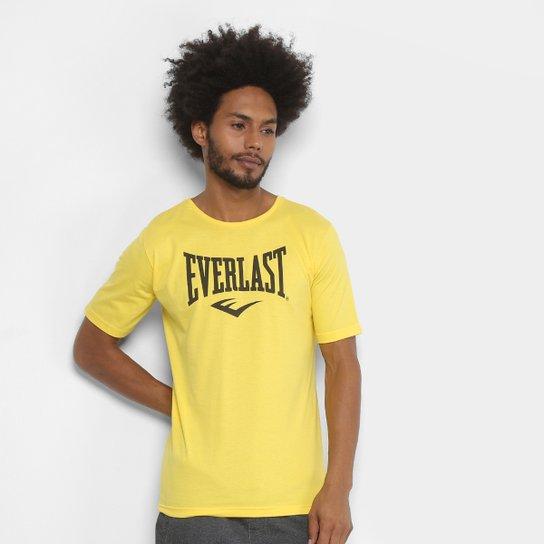 Camiseta Everlast Logomarca Masculina - Amarelo+Preto
