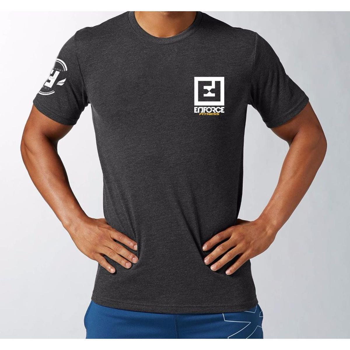 Camiseta Exercícios para Treino Academia Crossfit Funcional - Enforce  Fitness - Cinza - Compre Agora  6991967650bea