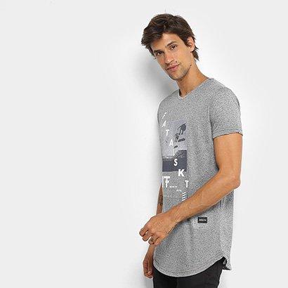 Camiseta Fatal Alongada Botonê Masculina - Masculino
