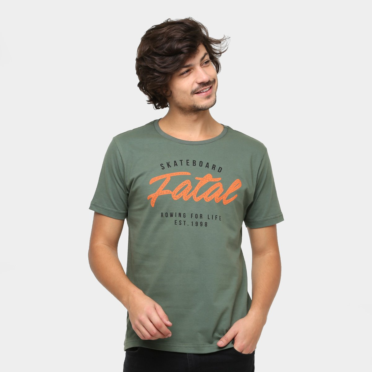 Camiseta Fatal SkateBoard Masculina - Compre Agora  d6e5c634f34