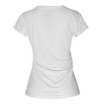 Camiseta V Branco Listras Branca Gola com Branca Camiseta Feminina Feminina Listras qnwzSOC6t