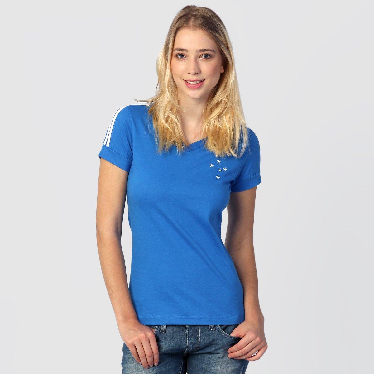 de2075ddad24b Camiseta Feminina Cruzeiro Réplica 1987 - Compre Agora