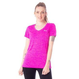 Camiseta Feminina Esportiva Under Armour Tech SSV-Twist Preto