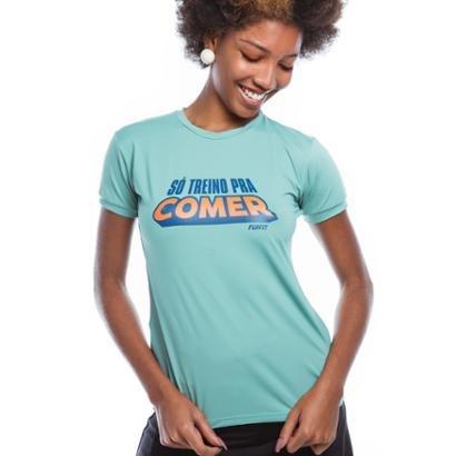 Camiseta Feminina Funfit - Só Treino Pra Comer - Feminino