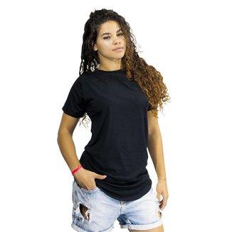 Camiseta Feminina Long Line Blusa Alongada