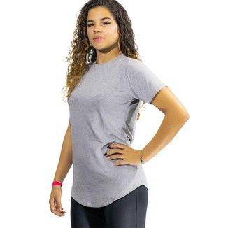 Camiseta Feminina Long Line Blusa Fitness