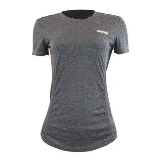 Camiseta feminina manga curta Azteq Air indicada atividade esportiva, tecido em strecht com conforto