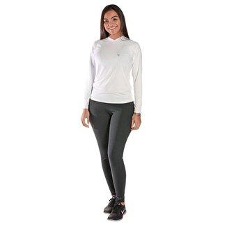 Camiseta Feminina Manga Longa UV 50+ Branco