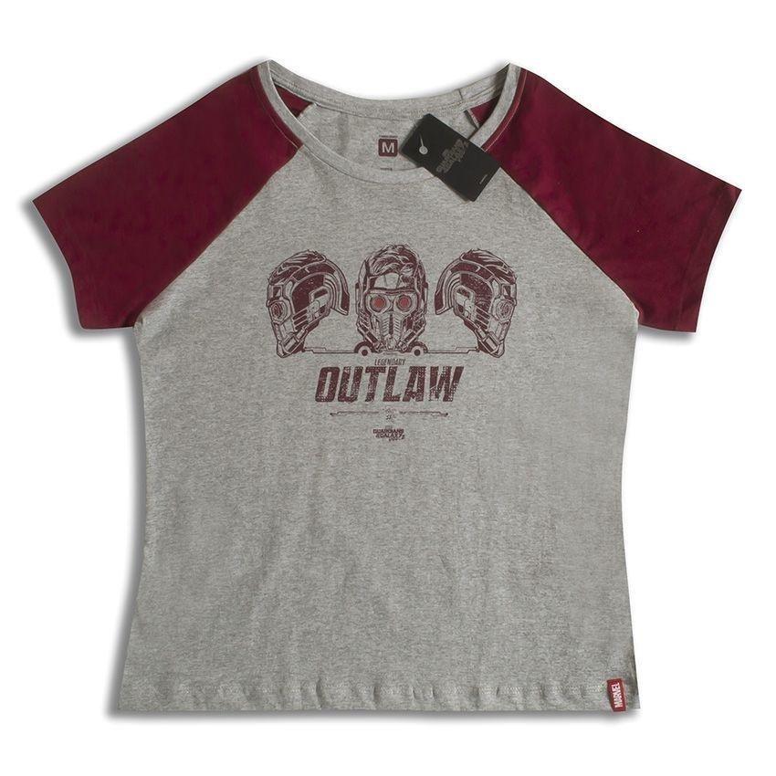 24f32c8167 Camiseta Feminina Marvel Legendary Outlaw - Cinza - Compre Agora ...