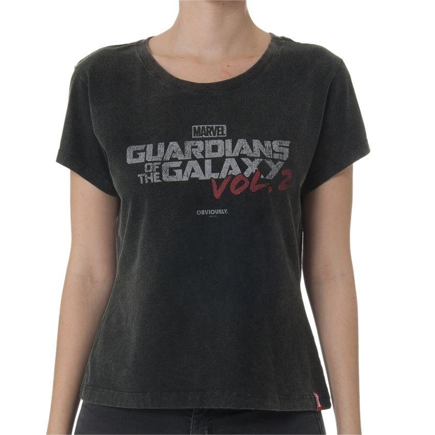 Galáxia Camiseta da Marvel 2 Guardiões Preto Feminina Logo Volume Z4q4wX7