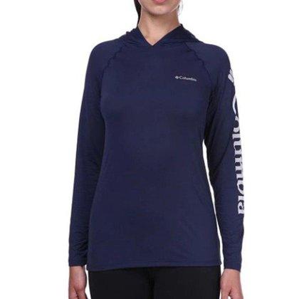 Camiseta Feminina M/L Columbia Aurora com Capuz