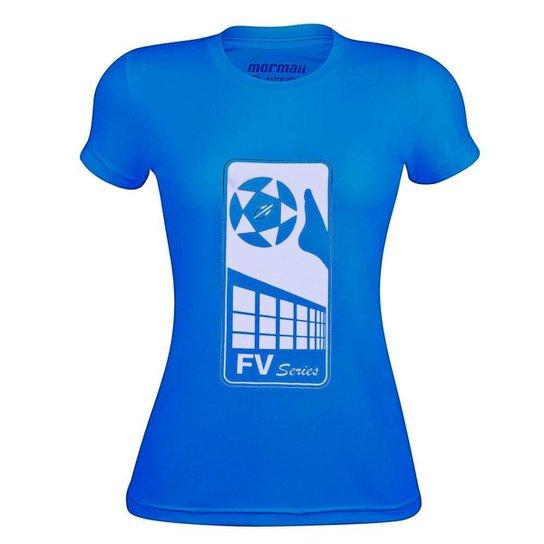 Camiseta Feminina Mormaii FV Series Futevolei - Azul