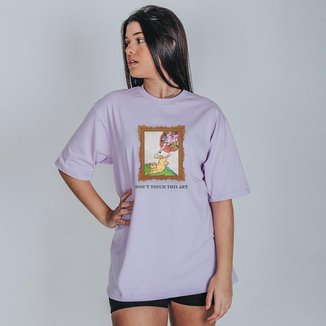 Camiseta Feminina Oversized Boutique Judith Don't Touch This Art