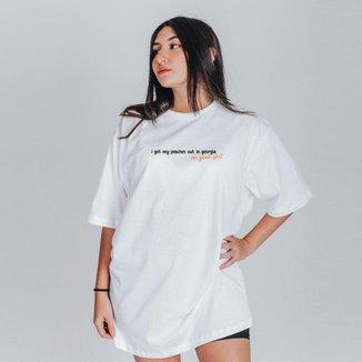 Camiseta Feminina Oversized Boutique Judith Peaches