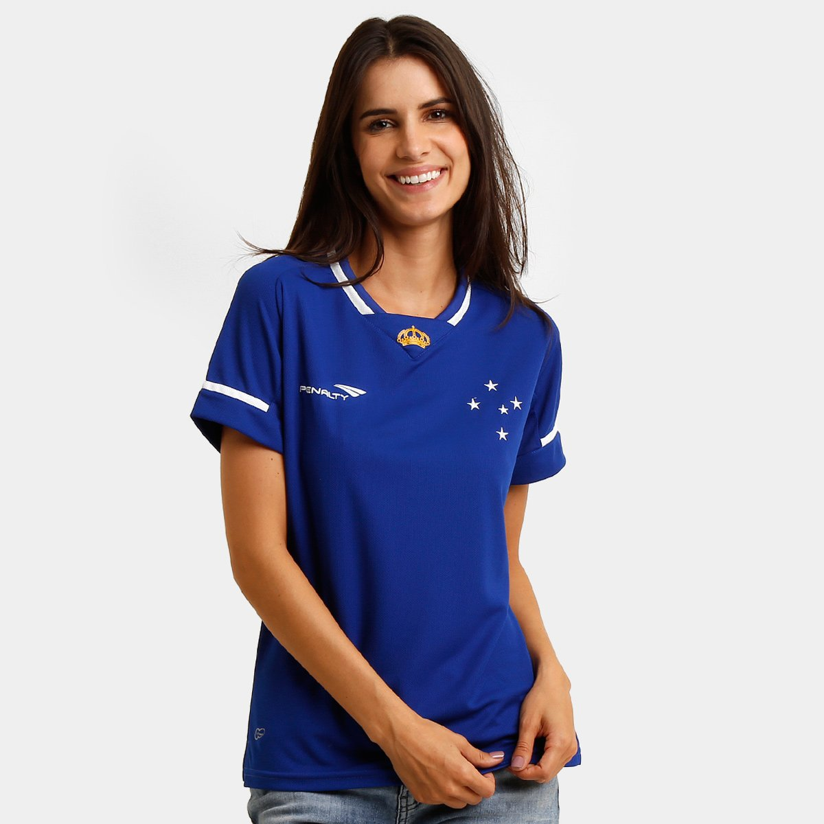 Camiseta Feminina Penalty Cruzeiro l 2015 s n° - Compre Agora  8cad19e6aa821