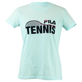 Camiseta Feminina Tennis Racket Azul - Fila